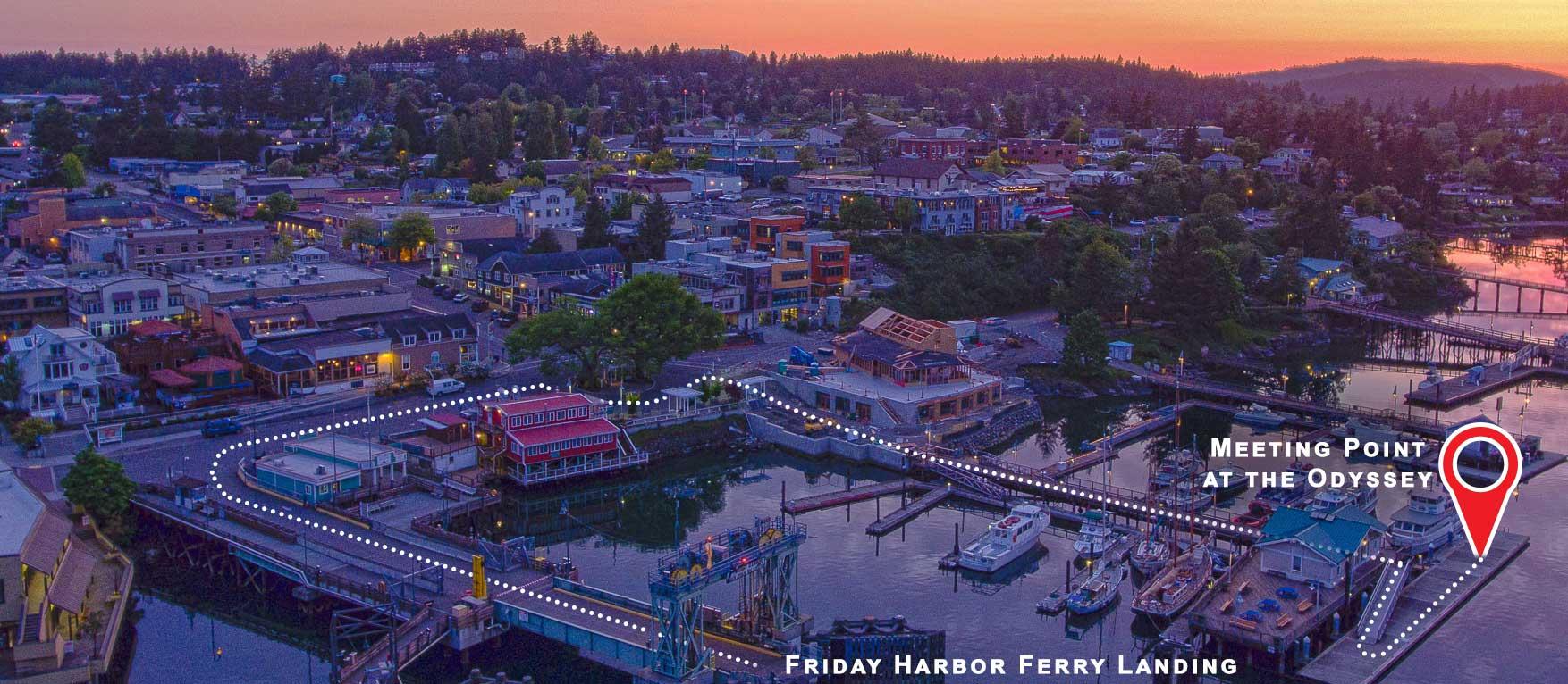 How To Get To Friday Harbor Washington On San Juan Island San - Seattle location usa map